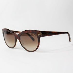 Tom Ford TF 430 56F Lily Women Brown Sunglasses